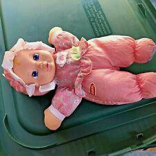 VINTAGE 1999 PLAYSKOOL MY VERY SOFT BABY PINK STUFFED PLUSH DOLL W/SQUEAKER