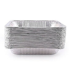 50 Half Size Deep Aluminum Steam Table Pan Disposable Party Trays 5132P