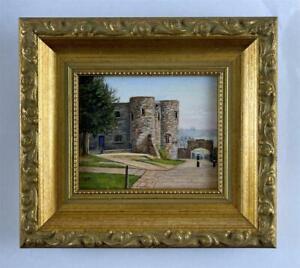 DOREEN MEDHURST Miniature Oil Painting YPRES TOWER RYE