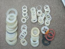 Plumbing Waste and Tap Seals x 113 Various sizes Mostly New but old.