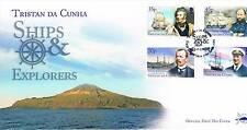 Tristan da Cunha 2014 Ships & Explorers 4v set FDC