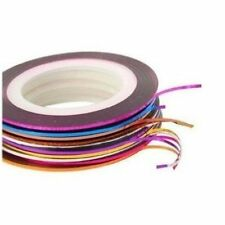 Nail Art Striping Tape Linie Dekoration 10er Pack Rollen + 100 Lint Nail Wipes