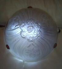VASQUE ART DECO LAMPE LUSTRE couleur blanche opaque 35 cm signée NOVA