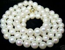 "Cultured Freshwater 8- 9mm White Pearl Necklace 18"" JN339"
