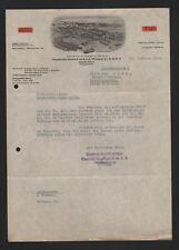 Hamburgo, factura 1934, Hamburgo-americana-aceite mineral GmbH