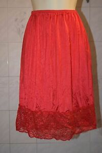 "New L/XL 24"" red half slip 5"" of lace"