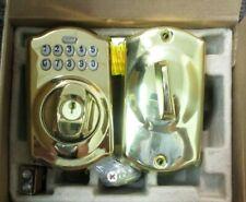Schlange Camelot Keypad Deadbolt Lock Bright Brass BE365 CAM505