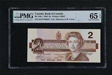 1986 Canada Bank of Canada BC-55b-i 2 Dollars PMG 65 EPQ Gem UNC