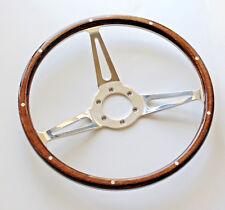 "New Moto-Lita Style Classic Wood 14"" Steering Wheel Rim Momo 6 bolt  9 Rivets"
