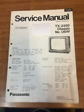 Panasonic TV Service manual TX-2450 Chassis U5W