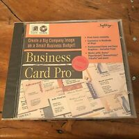 1996 SoftKey Business Card Pro CD-ROM Software for Windows 95/3.1~NEW + SEALED