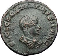 CONSTANTINE II Constantine the Great son 317AD Ancient Roman Coin Sol Sun i73664