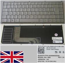 Qwerty Keyboard UK DELL Adamo 13-A101 SS5 NSK-DH00U 9J.N1G82.00U 0T712M Grey
