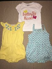 Toddler girls clothing lot of 3 Crazy 8 size 6-12 months H36 7z