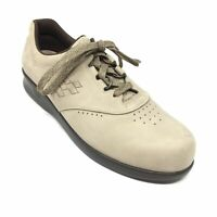 Women's SAS Free Time Walking Shoes Sneakers Size 10 S Beige Leather Casual U10