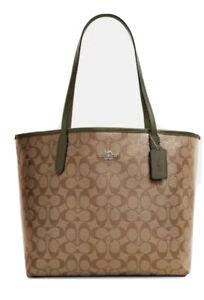 Coach Signature City Tote Bag Khaki Surplus NWT $350