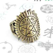 Vintage Anime Black Butler Ciel Contract Finger Ring Alloy Cosplay Necklace Gift