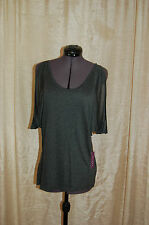 NWT Velvet by Graham & Spencer Gray Rayon Top Shirt Size P Made in USA