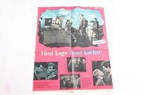 altes Filmplakat fünf Tage fünf Nächte Kino Film Reklame Werbung vintage DEFA