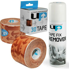 UP Rugby Football Kinesiologia Atletica Leggera Pro taping KIT 3 Pack + TAPE REMOVER