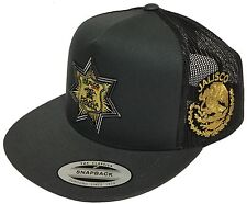 POLICIA FEDERAL LOGO MEXICO JALISCO HAT 2 LOGOS DARK GREY TRUCKE SNAP BACK
