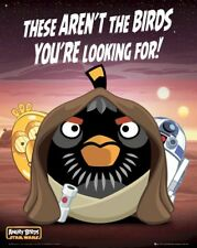 ANGRY BIRDS POSTER ~ STAR WARS THESE AREN'T BIRDS LOOKING FOR 16x20 Video Game