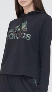 BNWT Ladies Black Adidas Camo Hoodie, Size M (12-14)
