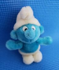 """Vintage 1981 Wallace Berrie 7"""" SMURF Plush Doll Toy"""