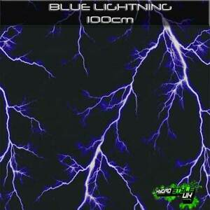 ROLLED - BLUE LIGHTNING - Hydrographics Film Hydro Dipping Transfer Graphic UK