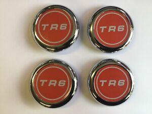 4x Triumph TR6 logo Wheel Centre Badge Hub cap  Set 1969-1976  627502