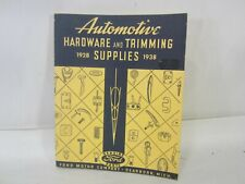 1938 Ford Automotive Hardware Trimming Supplies Catalog