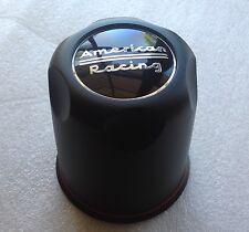 "(4) American Racing 3.27"" Plastic BLACK Center CAPS Fit 5 Lug AR Rims 1327000SB"