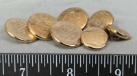 Vintage Lot of Gold Tone Monogrammed Buttons jds2