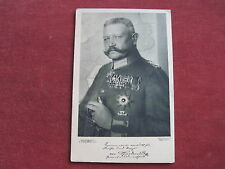Ancienne carte, fotopostkarte avec Hindenburg