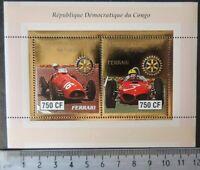 2003 sport racing cars formula 1 ferrari rotary gold foil  m/sheet MNH #2