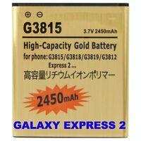 Batteria 2450Mah PER SAMSUNG GALAXY EXPRESS 2 SM-G3815 POTENZIATA MAGGIORATA ORO