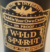 Wild Spirit Drink of the Frontier Paddle Your Own Canoe Tall Shot Glass Backbar