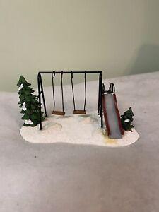 Christmas Village-St. Nicholas Square School Playground  With Original Packaging