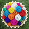 Rattan Colorful Pet Bird Claw Toys Parrot Ball Harness Parakeet Budgie CageFGN