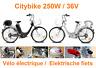 Vélo électrique - De elektrische fiets - Citybike 250W / 36V