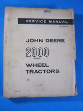 JOHN DEERE 2000  SERVICE MANUAL SM-2036 1964 OEM ORIGINAL