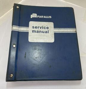 Complete Fiat Allis 945, 945B Wheel Loader Shop Service Manual Set Engine Trans
