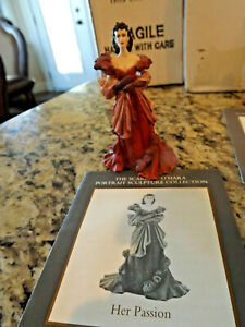 """Franklin Mint Gone with the Wind Figurine Scarlett """"Her Passion"""" with COA"""