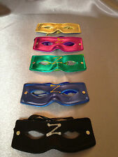 Super hero Party Masquerade - ZORRO mask with different colors