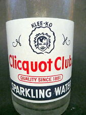 vintage ACL Soda Bottle: CLICQUOT CLUB CO of MILLIS, MASS - 12 OZ VINTAGE ACL