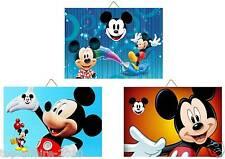 3 Cadres / Tableaux décoratifs chambre enfant - Mickey 01