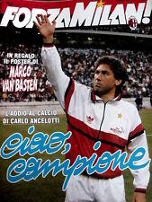 FORZA MILAN n°6 1992 [8A] con poster Marco Van Basten - Addio Ancelotti