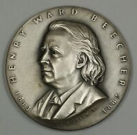 Henry Ward Beecher Silver Medal 2 ozt of .999 Hall of Great Americans at NYU