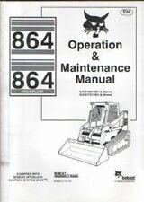 BOBCAT PARAMOTORE Steer Loader 864 & 864 ALTO FLUSSO operatori manuale