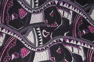 strukturierter Jersey Stoff schwarz-violett-grau 9,99€/m #01046